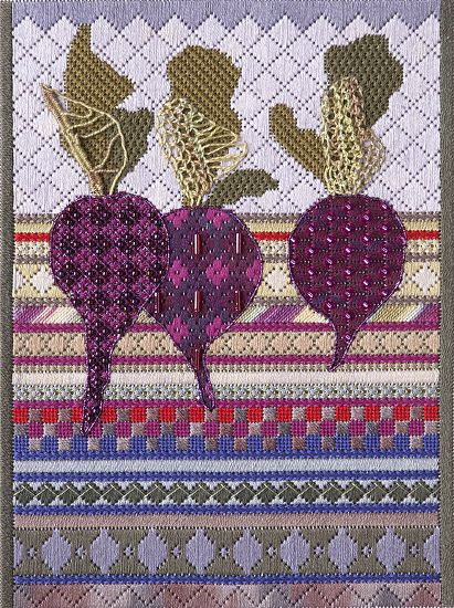 Beets by Jennifer Riefenberg Embroidery ~  x