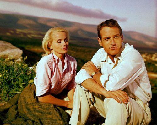 Eva Marie Saint and Paul Newman