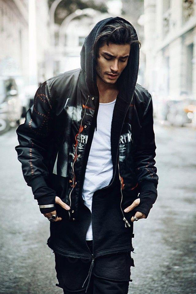 Toni Mahfud wearing  Givenchy Reversible Bomber Jacket