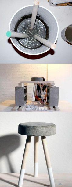 Zement gibt deiner Einrichtung einen modernen Look! 13 DIY Ideen mit Zement