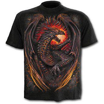 Find Best Price for Spiral - Men - DRAGON FURNACE - T-Shirt Black