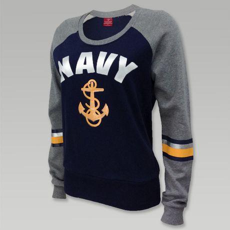Navy Women's Anchor Scoop Neck Sweatshirt