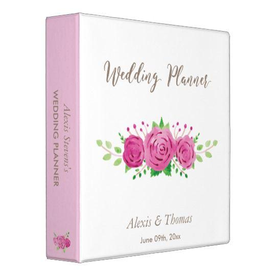 Classic Rosiness Wedding Planner Binder