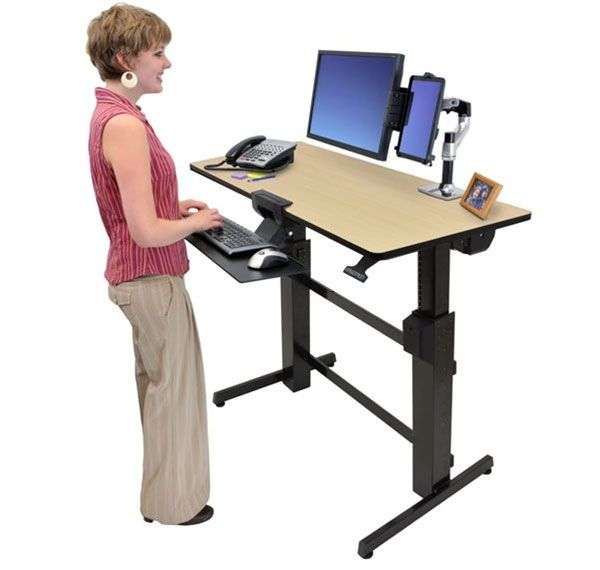 Woman at Height Adjustable desk