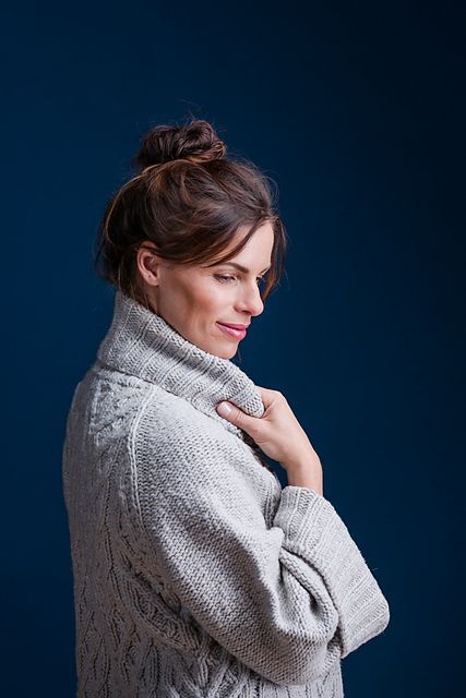Пуловер с косами от Michele Wang из Бруклин Твид fall 16