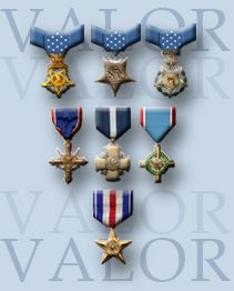 U.S. Military Awards for Valor The site launched with the names of Medal of Honor recipients for actions since 9/11, and now lists recipients of the Distinguished Service Cross, Air Force Cross and Navy Cross. The services are continuing to compile the lists of Silver Star recipients to add to the site.