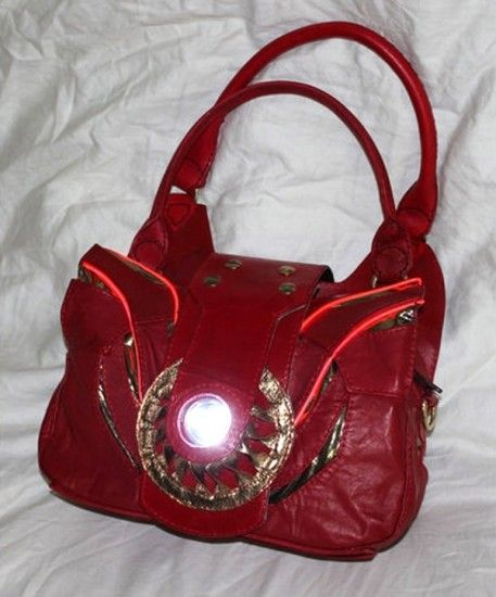 An Iron Man purse with an arc reactor. The very height of nerd fashion, as I'm sure Tony Stark would tell everyone himself.