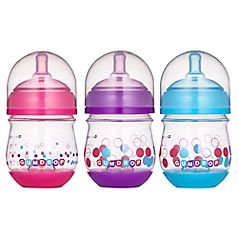 Colic can make your whole house cranky-so when you find the right bottle to ease tummy troubles, it kind of makes you want to do a happy dance. GumDrop 4oz. Wide Neck bottles are designed to help reduce colic symptoms with GentleVent technology, cited by 83% of Moms surveyed who said their babies experienced less gas or less spit-up or less fussiness*. Put those dancing shoes on. *Based on an independent third-party in-home bottle feeding research study