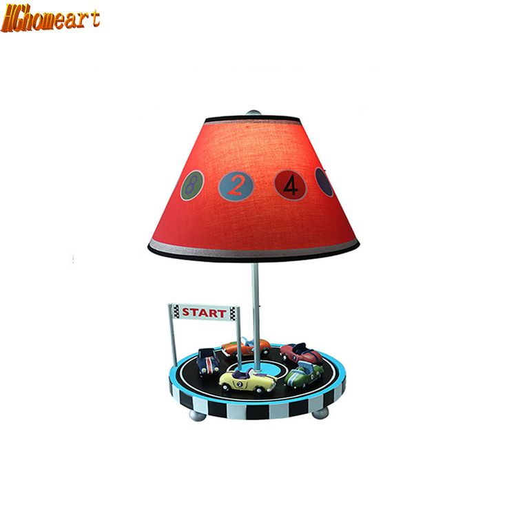 HGhomeart Car Table Lamp Bedroom Bedside Lamp Creative Cute Children Room Warm Decoration Adjustable Light Cartoon Lamp Boy #Affiliate