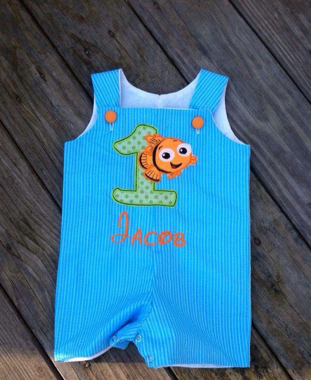 Finding Nemo Shortall Romper Or Jon Jon Custom Boutique