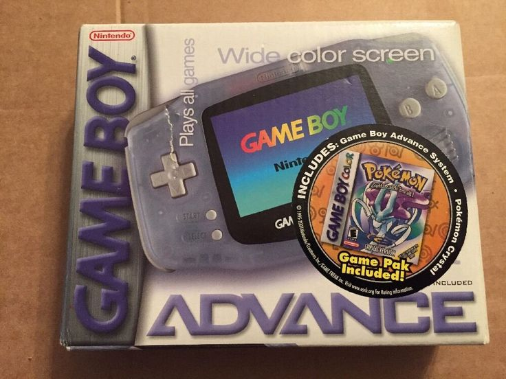 #Nintendo game boy advance #glacier #handheld system pokemon crystal pack,  View more on the LINK: http://www.zeppy.io/product/gb/2/351848559597/