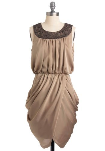 Lawd!! Taupe of the Hour Dress.