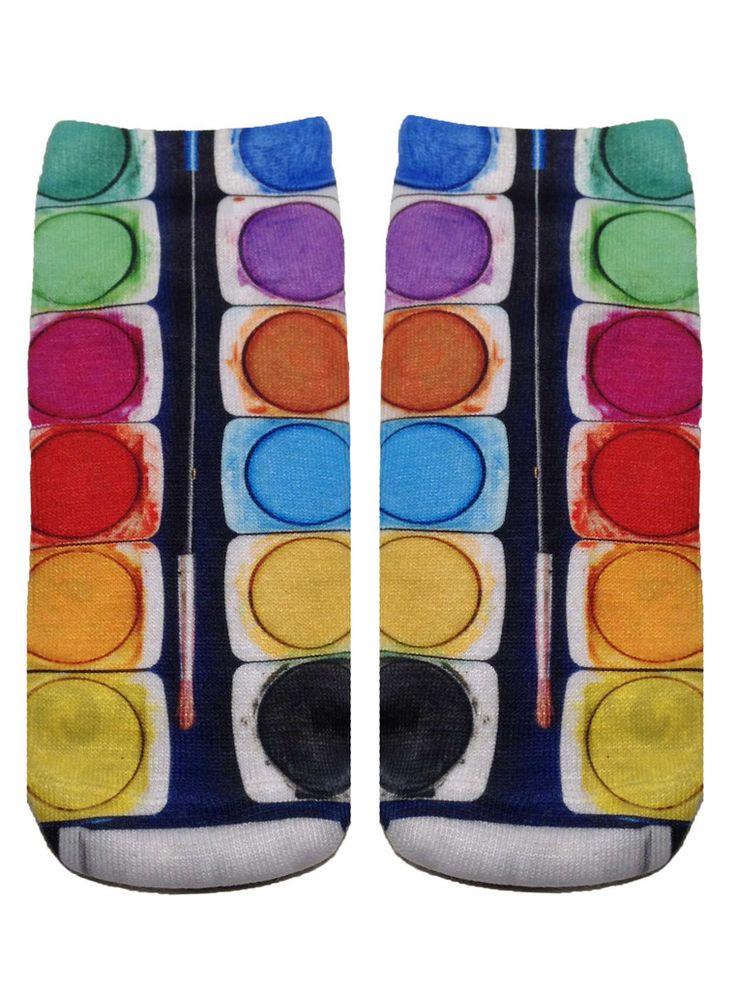 Paint Brush Set Ankle Socks