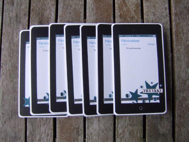 Iphone konfirmationskort