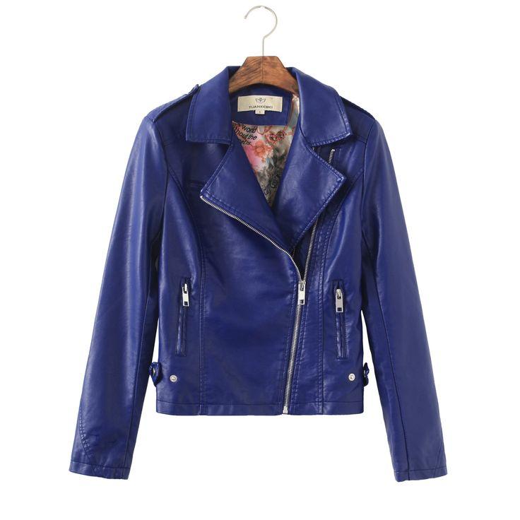 Korean Women Punk Style Fitted Short Biker Jacket, rock, trendy style, violet coat, spring fashion 2015