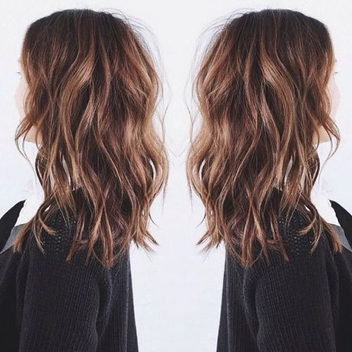 medium length shaggy hair | brown hair inspiration