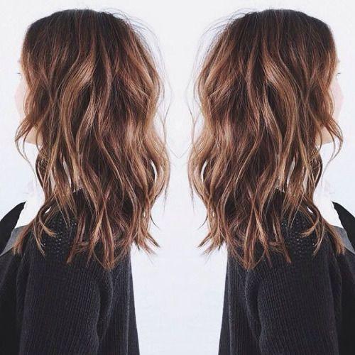medium length shaggy hair | brown hair inspiration #HairCut