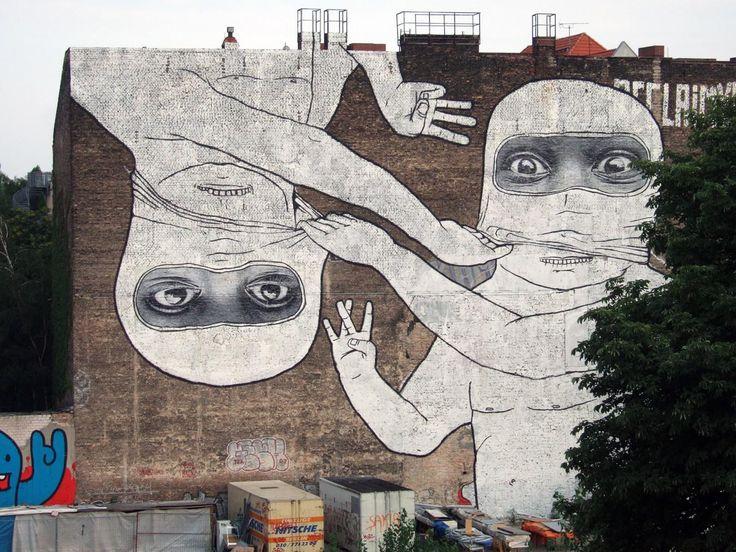 Blu x JR in Berlin: Street Artists, Art Blog, Urban Art, Art Animal, Google Search, Berlin Graffiti, Blu Street Art, Berlin Street Art, Streetart Urbanart