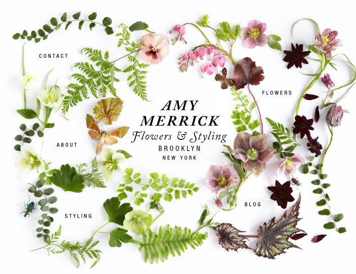 @Amy Lyons Merrick website// #MACONYORK art direction #amymerrick #florals