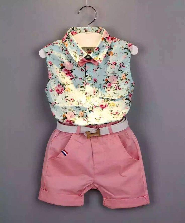 Floral Casual Clothing Shorts Set