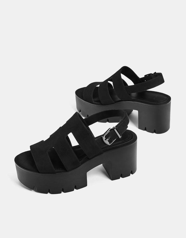 Sandales plateforme lanières