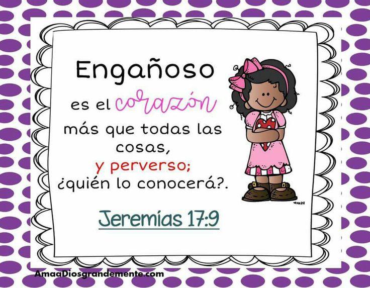 """Semana 1 JUEVES Versículo Diario- Somos Perdonados - Aceptando el perdón de Dios en nuestras vidas. """"Engañoso es el corazón más que todas las cosas, y perverso; ¿quién lo conocerá?"""" Jeremias 17:9  #SomosPerdonados #AmaaDiosGrandemente #ADGninos #DevocionalesparaNinos #EstudioBiblicoenLinea #ComunidadADG #LGG"""