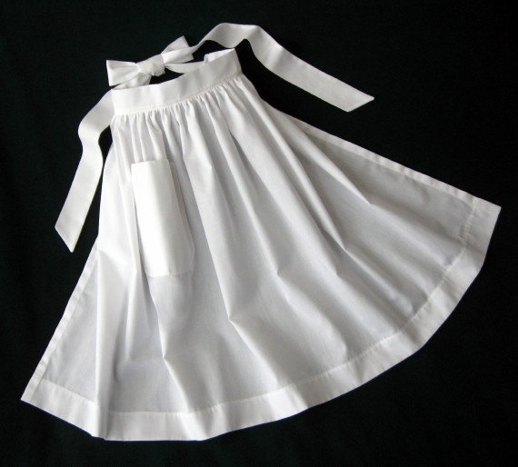 simple white apron (adult) for Pilgrim Costume