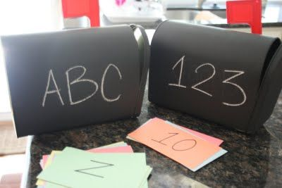 Little ones can sort the mail into the ABCs or 123s categories  They are having an educational experience while doing something fun