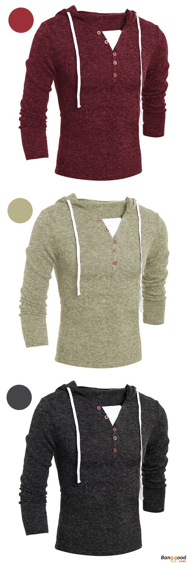 Casual Knitted Hoodie. Simple Design With Good Quality. US$24.64 + Free Shipping.