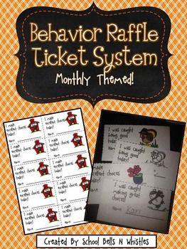 Behavior Raffle Ticket System | TpT Misc. Lessons ...