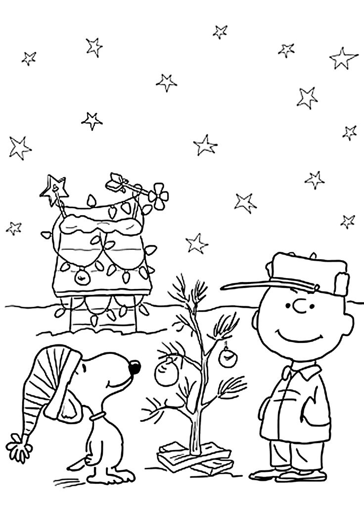 charlie brown and christmas coloring pages for kids printable free christmas page