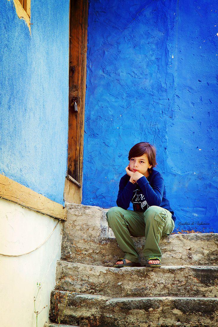 Boy in Blue, Thassos, Greece