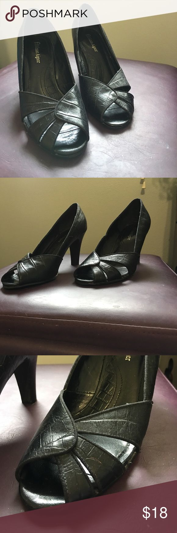 Super cute Retro style Peep Toe Pumps Perfect shoes for any occasion with any outfit! Never worn. Etienne Aigner Shoes Heels