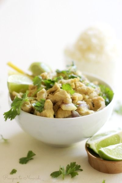 Healthy Instant PotThai Chickenis a delicious addition to your weekday dinners. This savory meal isfull of ginger and lemongrasswith subtle hints of mint, coconut and curry.   Recipes to Nourish