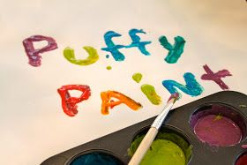 Domestic Charm: Homemade Puffy Paint