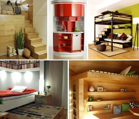 Ultra-Compact Interior Designs: 14 Small-Space Solutions