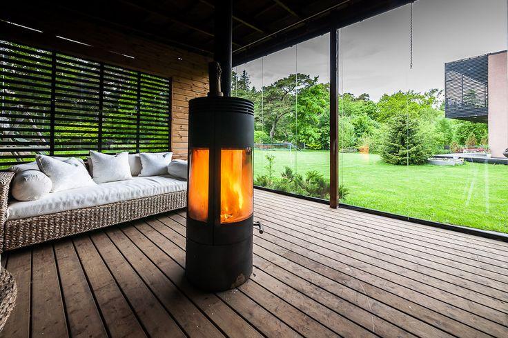 Austroflamm Pi, 360 graden draaibare houtkachel