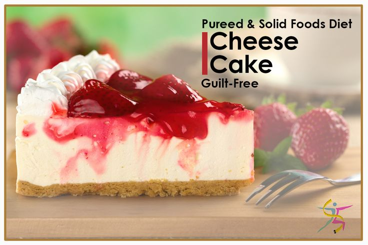 BariatricPal Creamy Cheesecake with 12 grams protein and 120 calories. Guilt-free. Pureed and solid foods diet! #Cheesecake #protein #Pureedfood