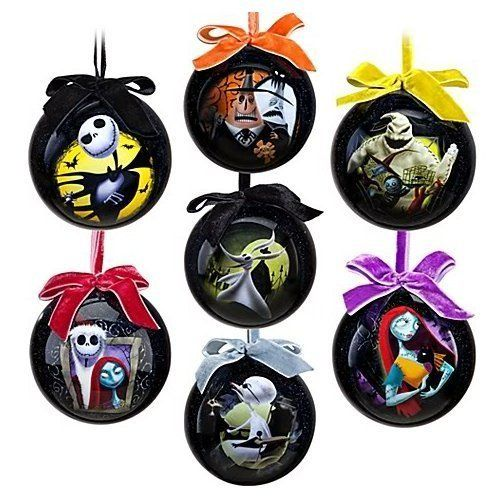 disney the nightmare before christmas jack skellington sally ornaments halloween - Halloween Christmas Ornaments