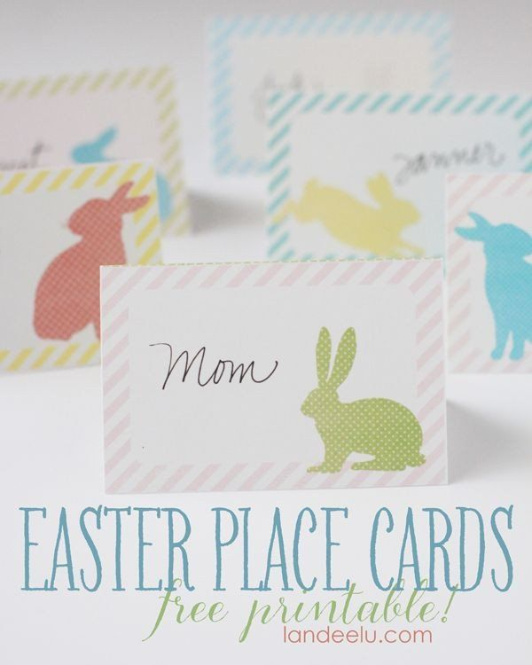 Celebrate It Place Cards Templates Elegant Easter Place Cards Free Printable In 2020 Easter Printables Free Easter Place Cards Easter Cards