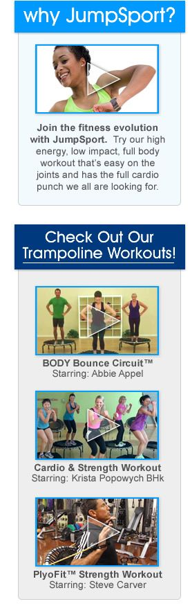 Why JumpSport Fitness Trampoline Workouts and Three Rebounder Workout Video Previews