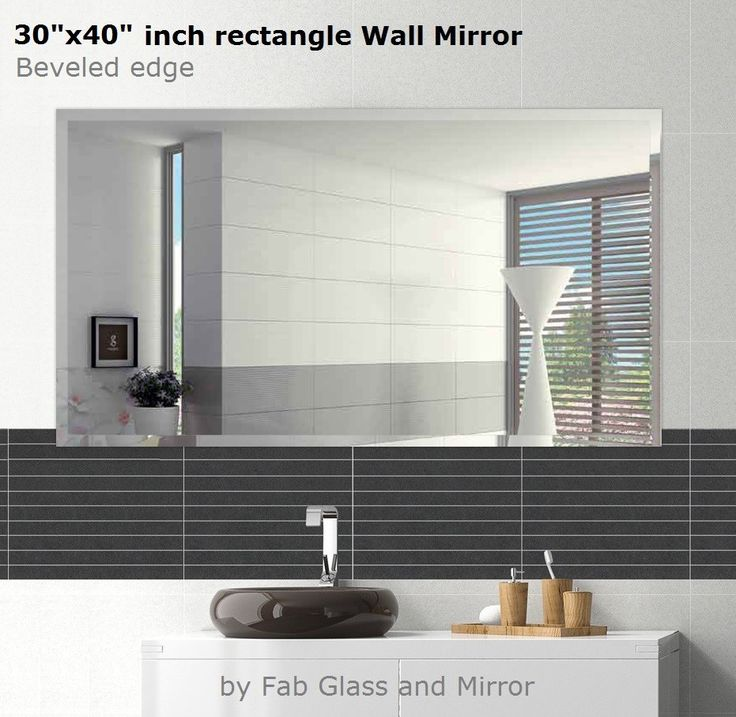 Images Photos Need inch rectangle Frame less Wall Mirrors online Fab Glass and Mirror provide plete collection of bathroom Mirror and kitchen Mirrors