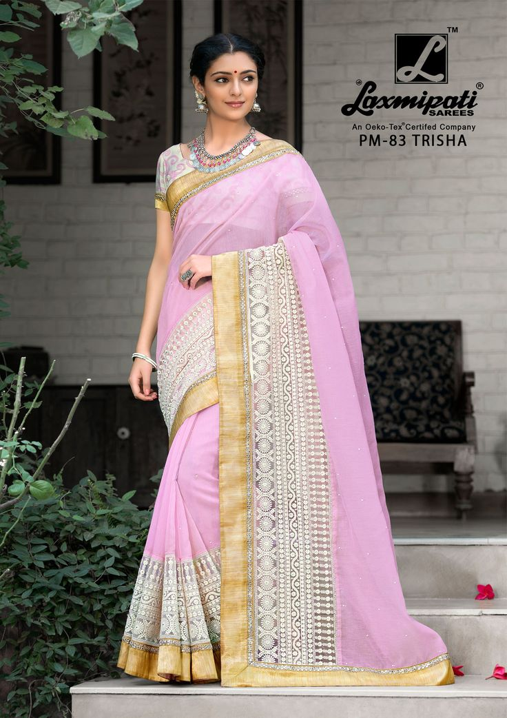 Impress all with your amazing traditional look by draping this Laxmipati Light Violet Cotton #SuperNetEmbroidery_Saree that earn you loads of plaudits from onlookers. Includes matching blouse fabric. #Catalogue- #SABRANG #DesignNumber- SABRANG 83 #Price - ₹ 3158.00