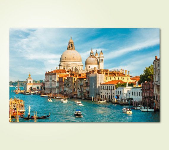 Canvas Prints Framed Ready to Hang  Venice Canvas by TopWallArte