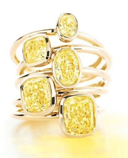 Tiffany & Co. anelli con diamanti gialli  collezione Autunno/Inverno 2012-2013