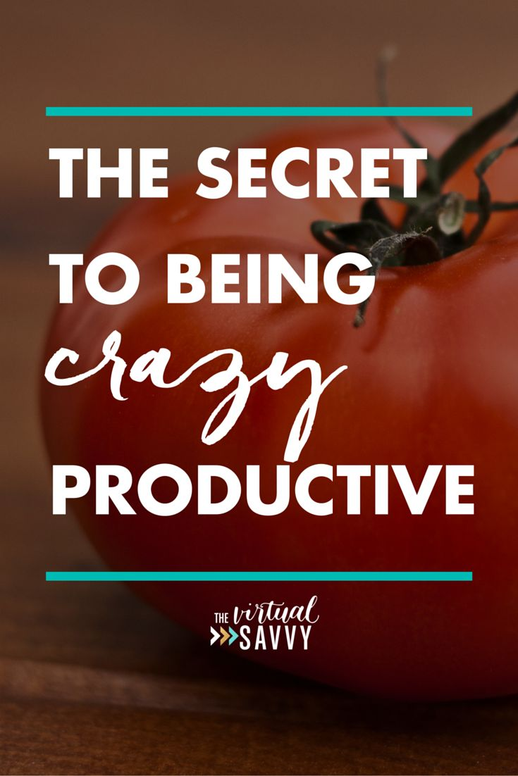 The Secret to Being Crazy Productive