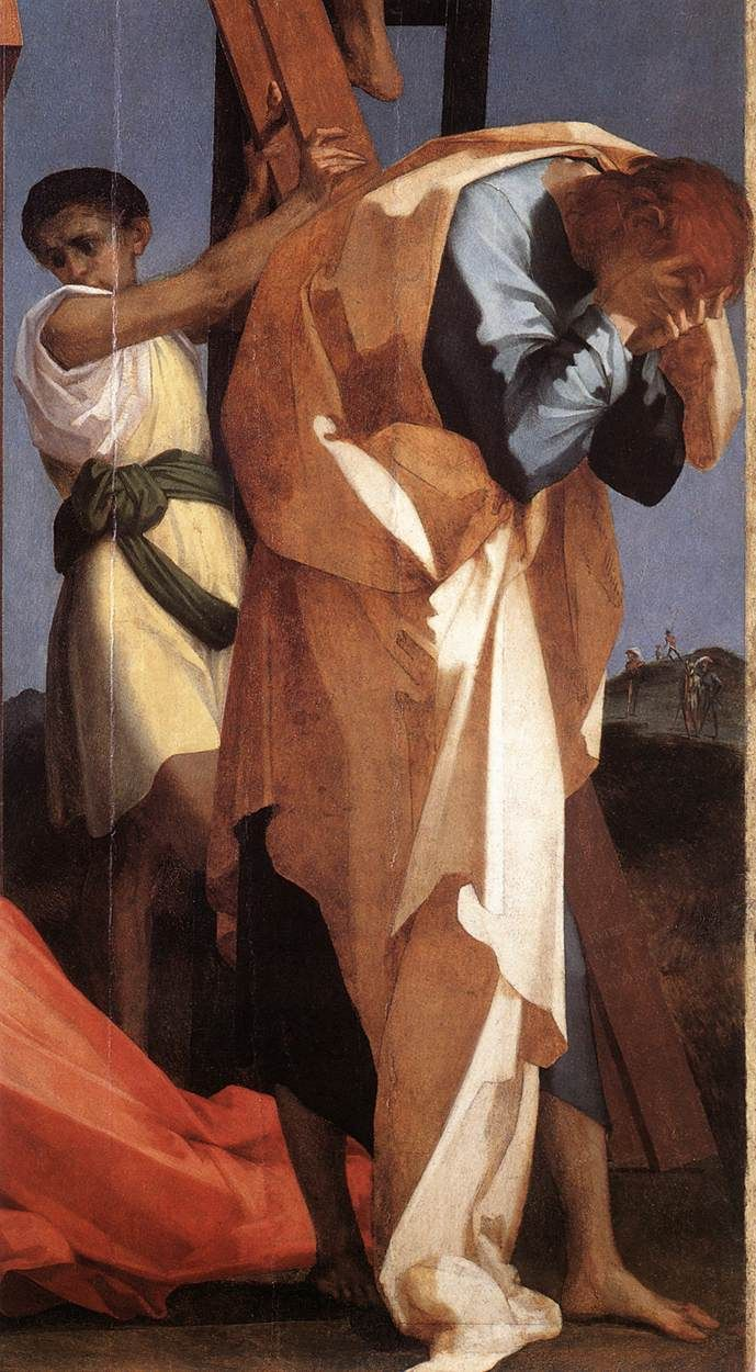 Rosso Fiorentino, Descent from the Cross, c. 1521, Volterra, Pinacoteca (detail)