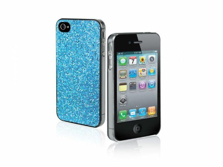 VENDO Custodia con brillantini per iPhone 4/4S, colore azzurro. http://www.specialprezzi.com/department/112/Elettronica-ed-Accessori.html#a_aid=annarellina&a_bid=04e28b PREZZO:€ 6,25