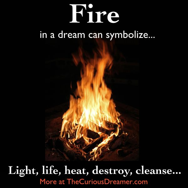 Fire is a powerful dream symbol. It can mean...   More at TheCuriousDreamer... #dreammeaning #dreamsymbol