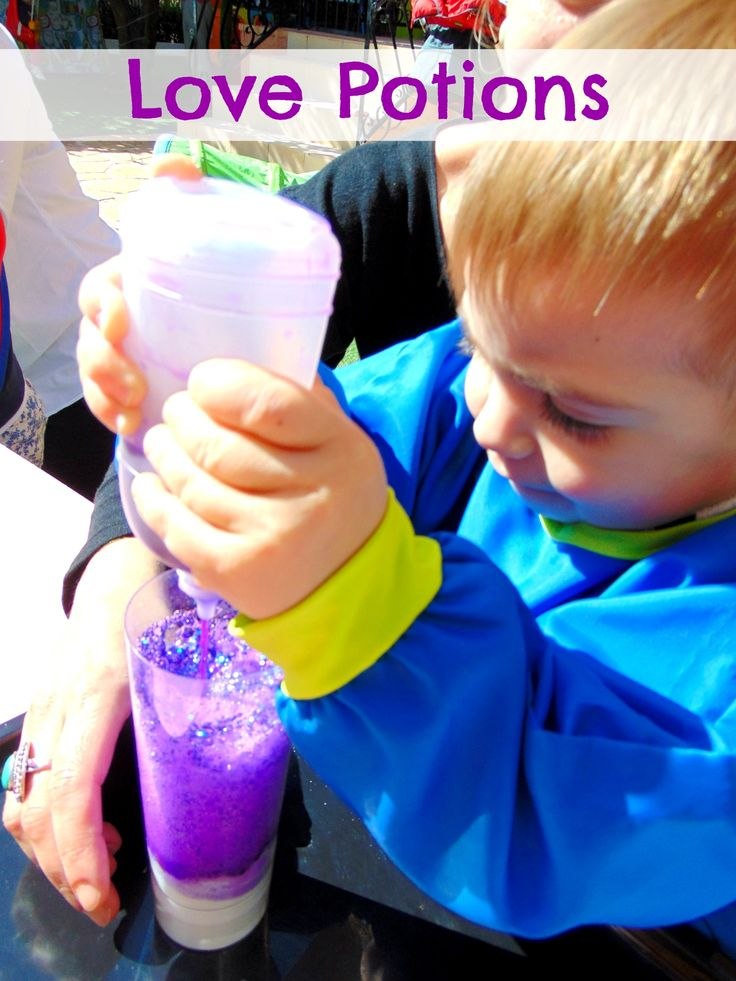 Today our toddlers & babies made love potions!!! A